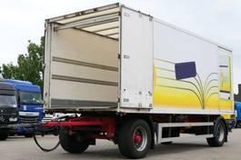 closed box trailer Ackermann KA-F18 Koffer Durchlade Scheibenbremsen Rolltor 2004