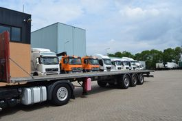 flatbed semi trailer Samro ST39MH * 3xle * Stainless steel Chassis * 2004