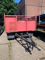 flatbed semi trailer Tracon 2-assige Autonome aanhanger 2000