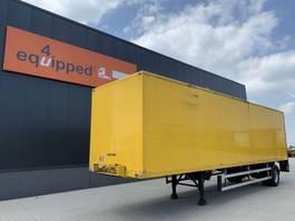 closed box semi trailer Groenewegen city, steering axle, no rust, NL-trailer,  APK: 21/5/2022, twin-tires 1998