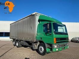 closed box truck DAF CF 75 75 300 ATI EURO 2 (10 TIRES) 6x2 Canvas Sides 1997