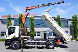 tipper truck > 7.5 t Iveco Stralis 310 , EEV , 120.000km , 3 side tipper , bordmatic , Cran 2014
