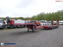 flatbed semi trailer Nooteboom 4-axle semi-lowbed trailer 69 t / extendable 12 m + ramps 2015