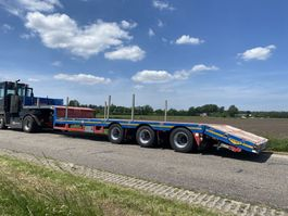 semi lowloader semi trailer Broshuis CRANE TRAILER 12300 MM | EXTENSION 4.5 MTR | HYDRO REAR RAMP | 2012