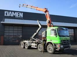 container truck Mercedes-Benz Actros 4141 Euro 5 Haak/Kraan 2012