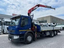 drop side truck Renault Premium 370 DXi + FASSI F95 2008