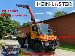 platform truck Unimog Agrar Kran PK11001 12,6m Funk 5+6 Steuerk. 2001