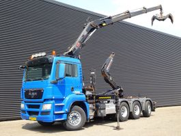 container truck MAN TGS 35 8x4/4 TRIDEM / HIAB KRAAN + CONTAINER SYSTEEM 2011