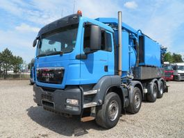 vacuum truck MAN TGS 35.480 8x4 Simon Moos Recycler 2011