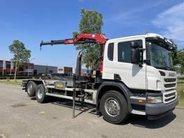 crane truck Scania P 360 6x2*4  hmf crane + meiler hook 2012