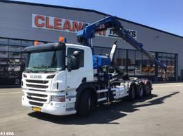 container truck Scania P420 Hiab 21 ton/meter laadkraan Welvaarts kraanweegsysteem 2012