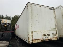 closed box semi trailer Fruehauf D23V1NA 1988