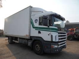 closed box truck Scania P124 bakwagen koffer 1997