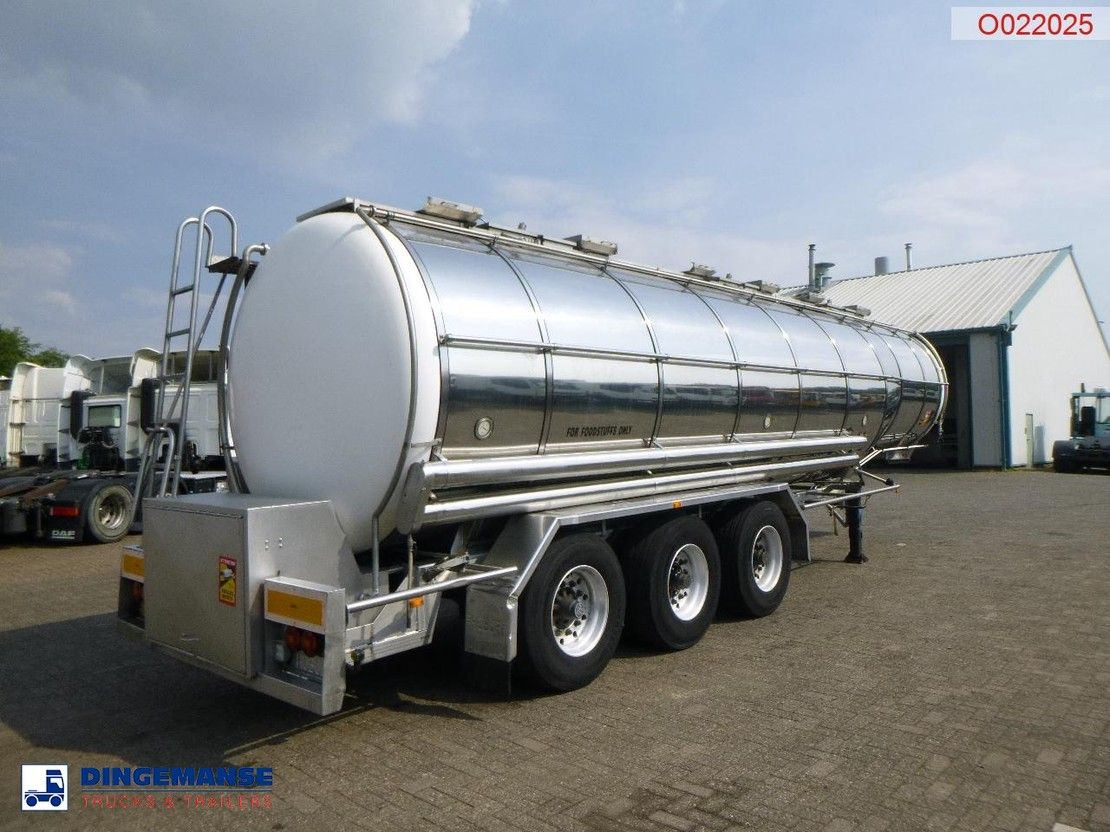 tank semi trailer semi trailer Burg Food tank inox 30.5 m3 / 3 comp + pump 1994