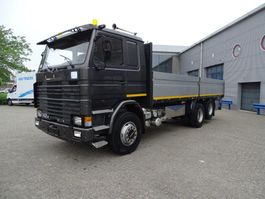 platform truck Scania 142 / 6X2 / FULL STEEL / MARGE!!! / GOOD CONDITION / 1982 / EURO-0 1982