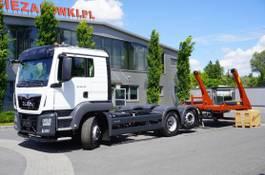 container truck MAN TGS 28 HYDRODRIVE, NEW !, E6, 6x4x4, NEW SKIPPER 18T, lift a 2021