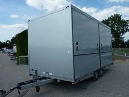 closed box car trailer Van Weel VW 3500L fietsvervoer podiumwagen 2006
