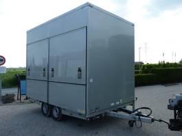 closed box car trailer Van Weel VW3500L fietsvervoer podiumwagen luchtgeremd 2007