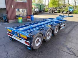 container chassis semi trailer D-TEC FLEXITRAILER VCC-01 MULTI 3 SAF assen - Schijfremmen - Banden 70% - 03/2... 2016