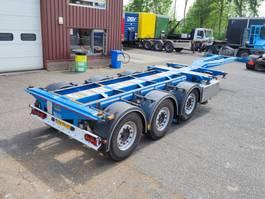 container chassis semi trailer D-TEC FLEXITRAILER VCC-01 - MULTI 3 MB assen - Schijfremmen - 09/2021 APK (O636) 2015