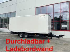 closed box trailer Möslein TPS 105 D-L Tandem Koffer mit Ladebordwand + Durchladbar 2015
