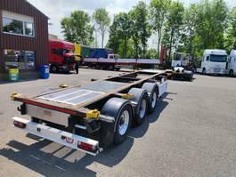 container chassis semi trailer LAG O-3-39 CD 3-Assen BPW - trommelremmen - ADR - Alcoa's (O519) 2007