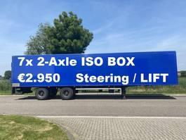 Kofferauflieger DRACO 7x 2-Axle islolated box / Taillift / NL Trailer 2001