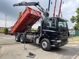 tipper truck > 7.5 t DAF CF 85 6x4 KIPPER + KRAN HIAB 122 B-2 + RADIO - Bordmatic - 2 way Meiller tipper - manual ZF - good tires 2002