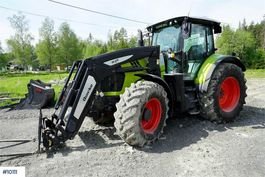farm tractor Claas Arion 640 w / two tire sets, forks and bucket 2017
