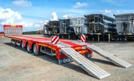 flatbed semi trailer KAESSBOHRER Mega Teleskopierbar, Rampen, MIETEN? 2020