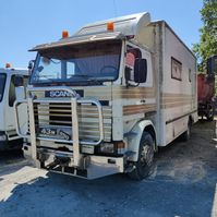 closed box truck Scania T143 1985