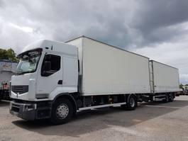closed box truck Renault Premium BOX COMBI 103m3 - PREMIUM 450dxi euro 4 + SAMRO 2 axles 2008