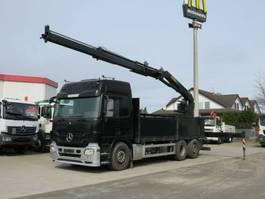 platform truck Mercedes-Benz Actros L 6x2 Pritsche Heckkran Lift/Lenk 2013