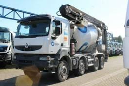 concrete mixer truck Renault Kerax 8x4 / Band12m/ Mischer 9m³ 2009