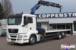 crane truck MAN TGS 26 Platte laadvloer met kraan 6x2 Euro 5 2011