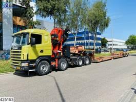 cab over engine Scania 144 460 8x4, Fassi F900, Retarder, Manual, Remote, Lowbed 2000
