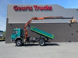tipper truck > 7.5 t Mercedes-Benz Axor 1829 4X4 + MEILLER 3 ZIJDIGE KIPPER/TIPPER + TEREX 105.2-A3L KRAAN/KRAN/CRANE/GRUA 2007