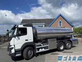 tank truck Volvo FMX 460-6X2 HYDRODRIVE 16000L RVS ISO tank. 2 comp 2015