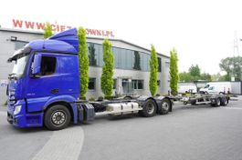 container truck Mercedes-Benz Actros , E6 , MEGA , BDF , chassis 7,7m 2016