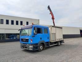 Schiebeplanen-LKW MAN TGL 10.250 Euro5 Doka / Dubbel cabine Servicewagen Kraan Palfinger