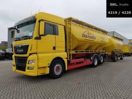tank truck MAN MAN TGX 26.440 6x2-2 LL LKW / SILO / KOMPRESSOR / with trailer