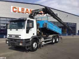 tipper truck > 7.5 t Iveco Eurotrakker 6x4 Fassi 30 ton/meter laadkraan 2003