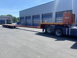 semi lowloader semi trailer Broshuis 4 ABD-58, 4-ass , 2 x Extandable 34.150 mm 1987