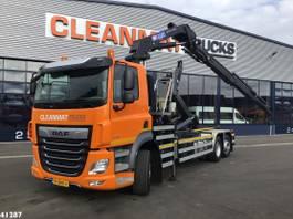 container truck DAF FAN HMF 21 ton/meter laadkraan 2021