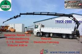 platform truck Mercedes-Benz Actros 8x2 Hiab 377 E6 + FlyJib 26m + Winde 2007