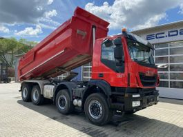 tipper truck > 7.5 t Iveco Stralis AD340T 8x4 Meiller hydr. Heckklappe 2018