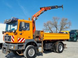 tipper truck > 7.5 t MAN Kipper Kran Allrad Winterdienst Greifer 2000