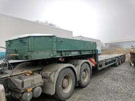 lowloader semi trailer Goldhofer STZ-L4-43/80 Tieflader verlänger Tele 1992