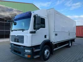 closed box truck MAN 15.280 Getränkekoffer Eur4 4x2 LBW Automatik 2007