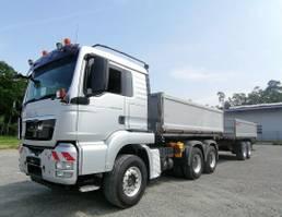 tipper truck > 7.5 t MAN TGS 26 Dreiseitenkipper u. Reisch RTDK-18 2009